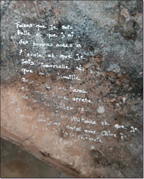 Graffitti de la cathédrale de Laon