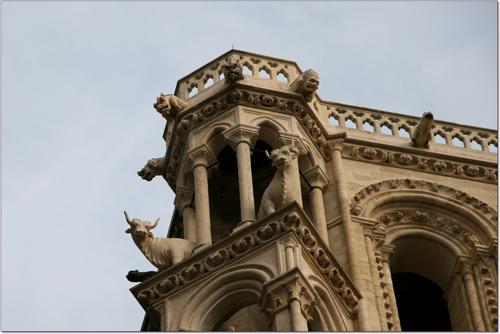 Animaux sur la facade de la cathédrale de Laon