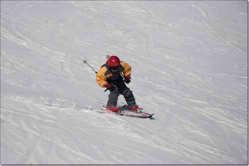 Tarquinou fonce à ski